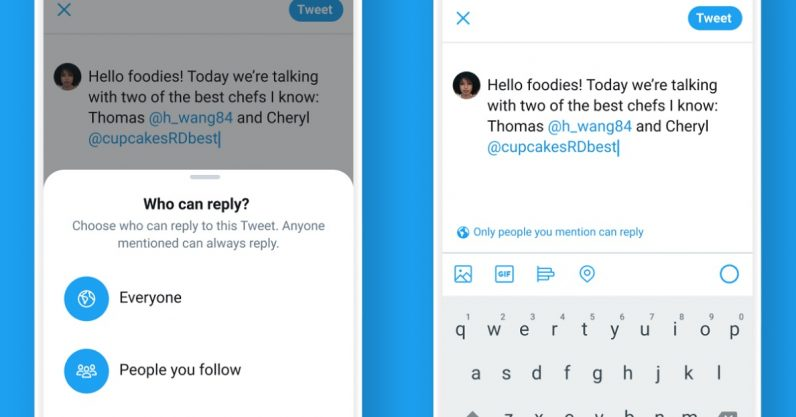 Twitter tests letting you choose who can reply to your tweets