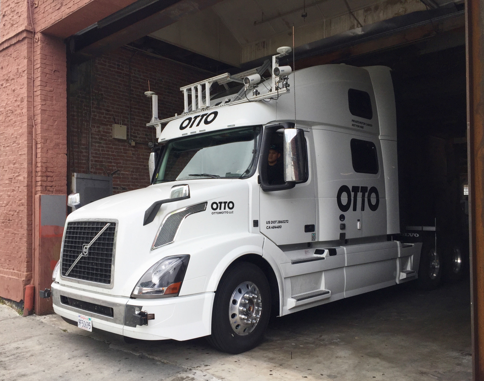 otto, truck, volvo, self-driving
