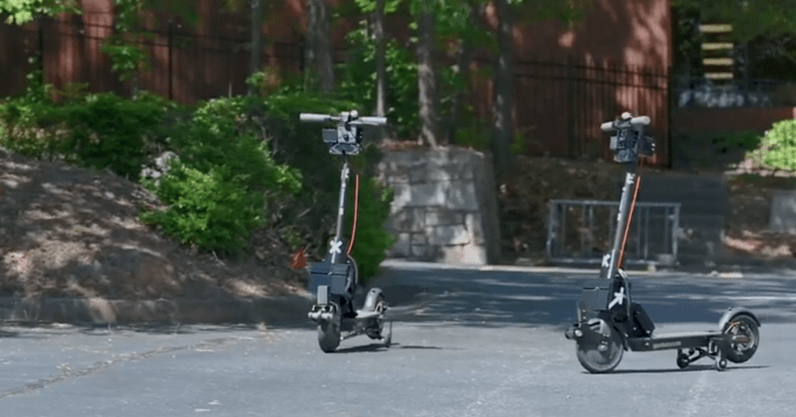 These 'self-driving' shared scooters will automatically return to base after each use - the next web