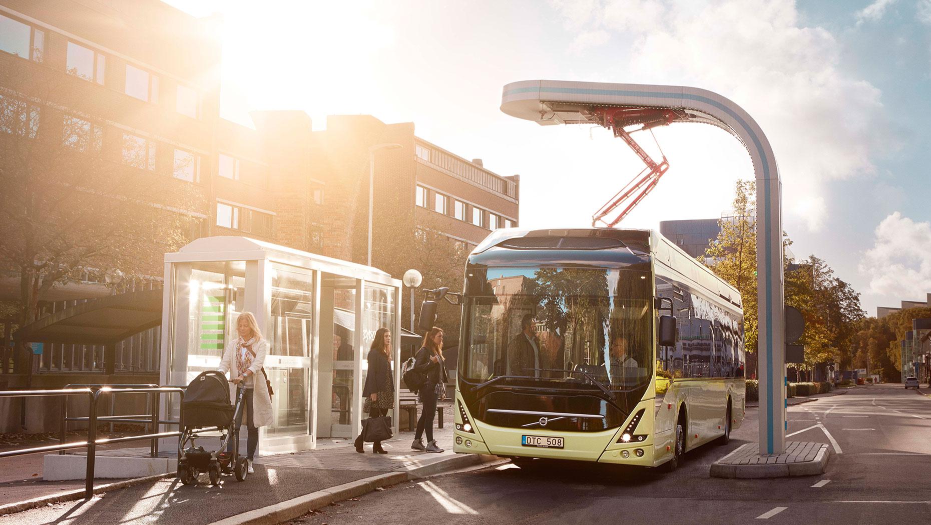 bus, volvo, electric, sweden
