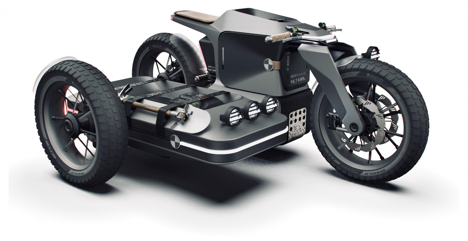 electric, suv, bike, sidecar, attachment, motorcycle