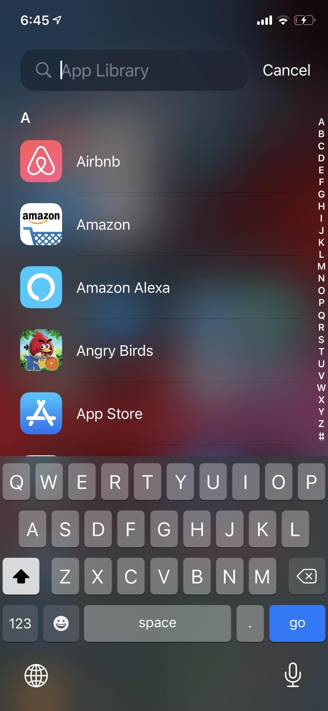 Apple iOS 14 App Library