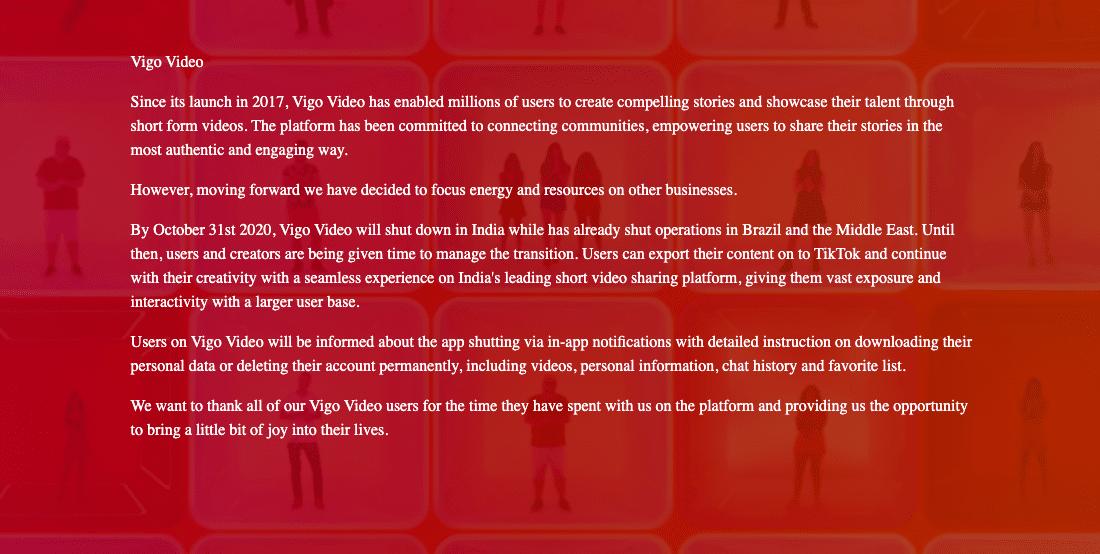 Vigo letter