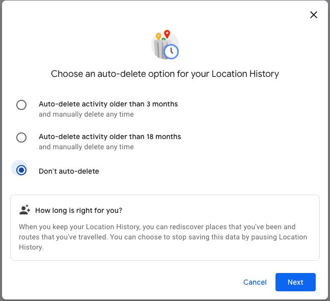 auto-delete Google history