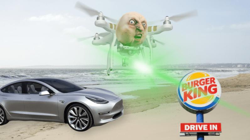 burger king, tesla, autopilot, phantom, iamge, trick, danger, systems, driver, aids, hack