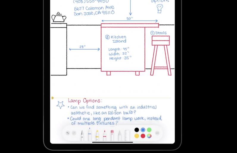 iPadOS 14 Apple Pencil