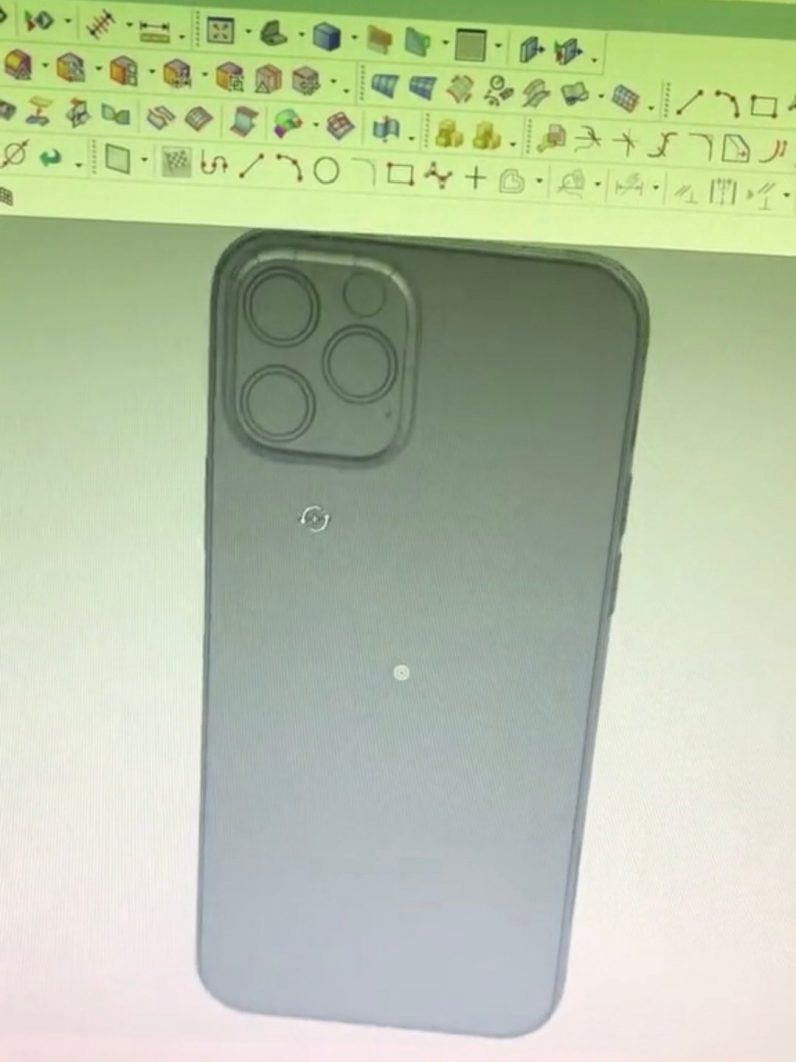 iphone 12 mold leak CAD model