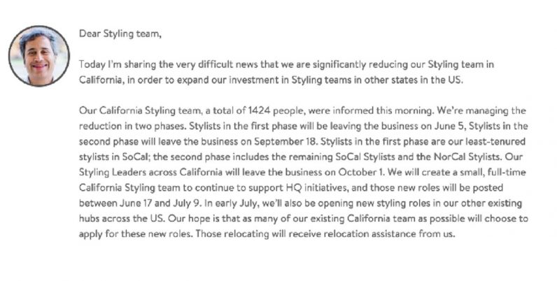 Breaking: AI startup Stitch Fix to conduct massive layoffs starting this week