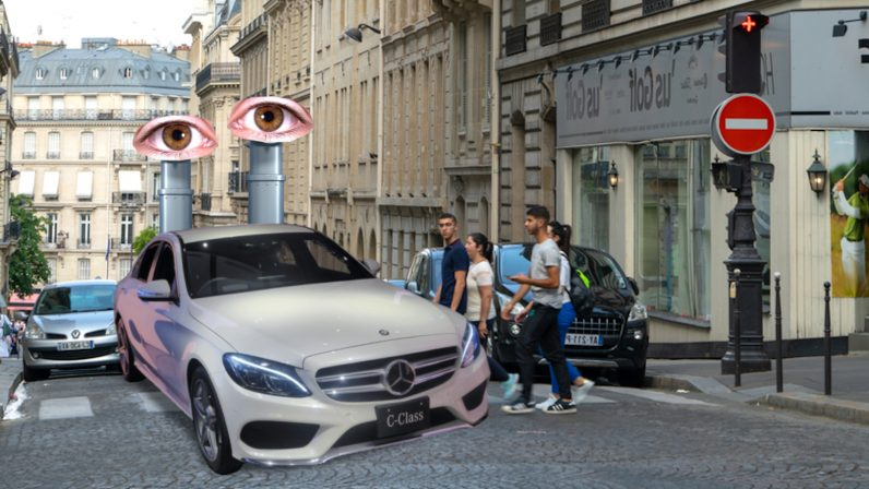 mercedes, princeton, doppler, radar, corners, radiowaves, safety, feature, ai, car, future