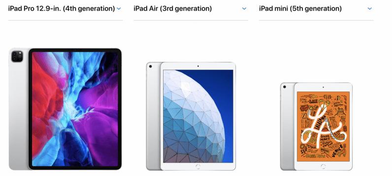 new ipad air ipad pro ipad mini comparison