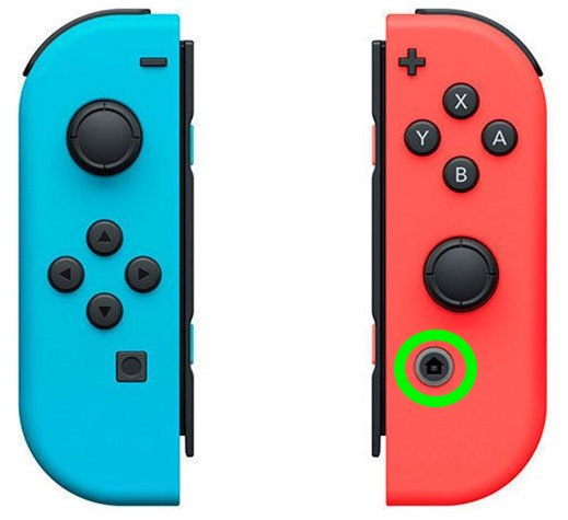 turn on a nintendo switch joy-con