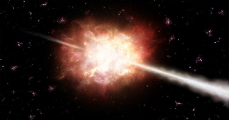 Burst of gamma rays from 10 billion light years away offers glimpse into the early universe