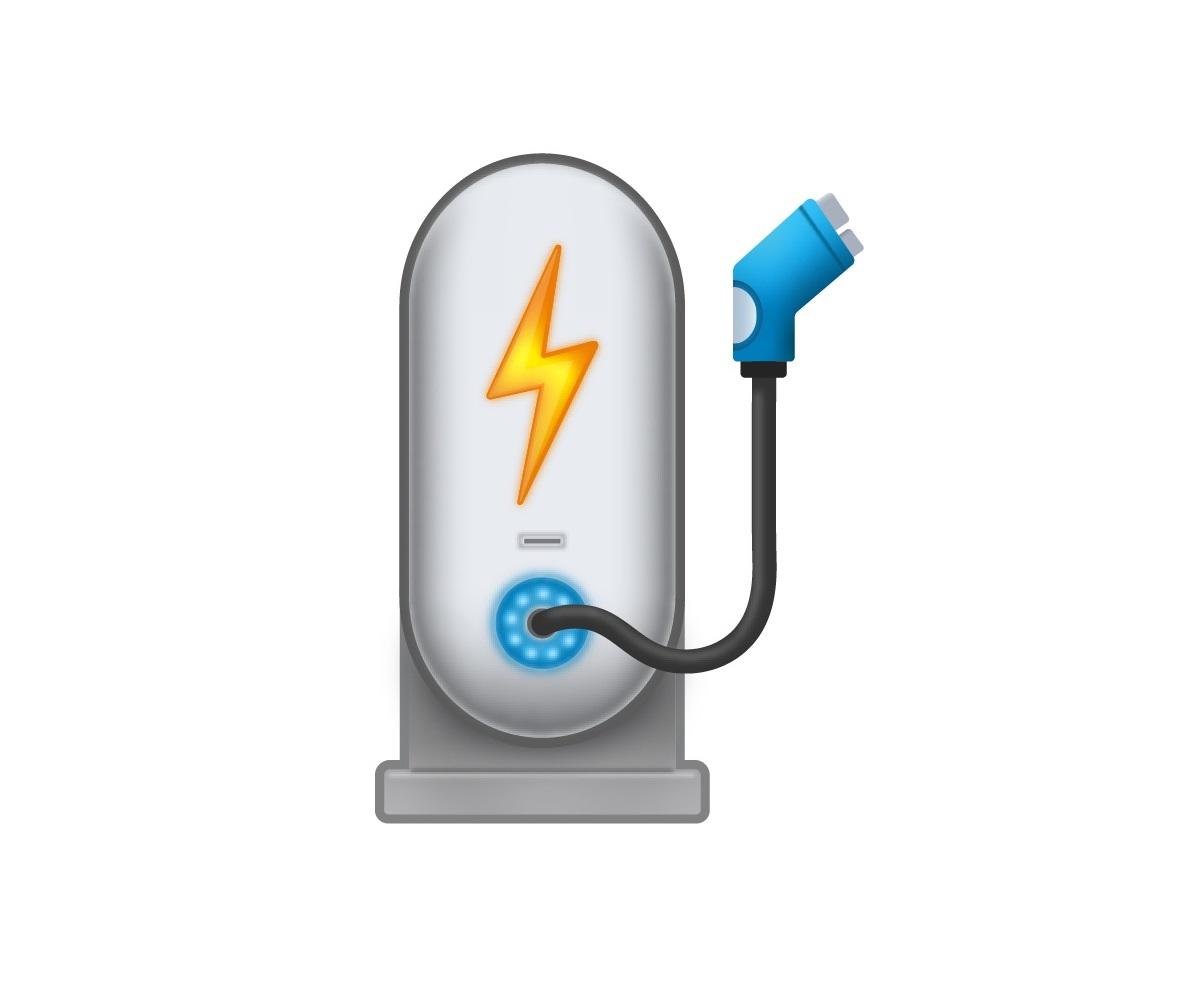 emoji, ev, charger, gas, pump