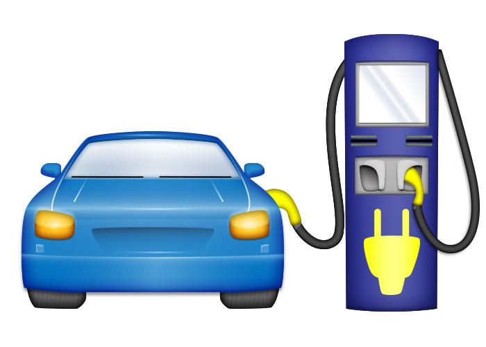 emoji, ev, charging