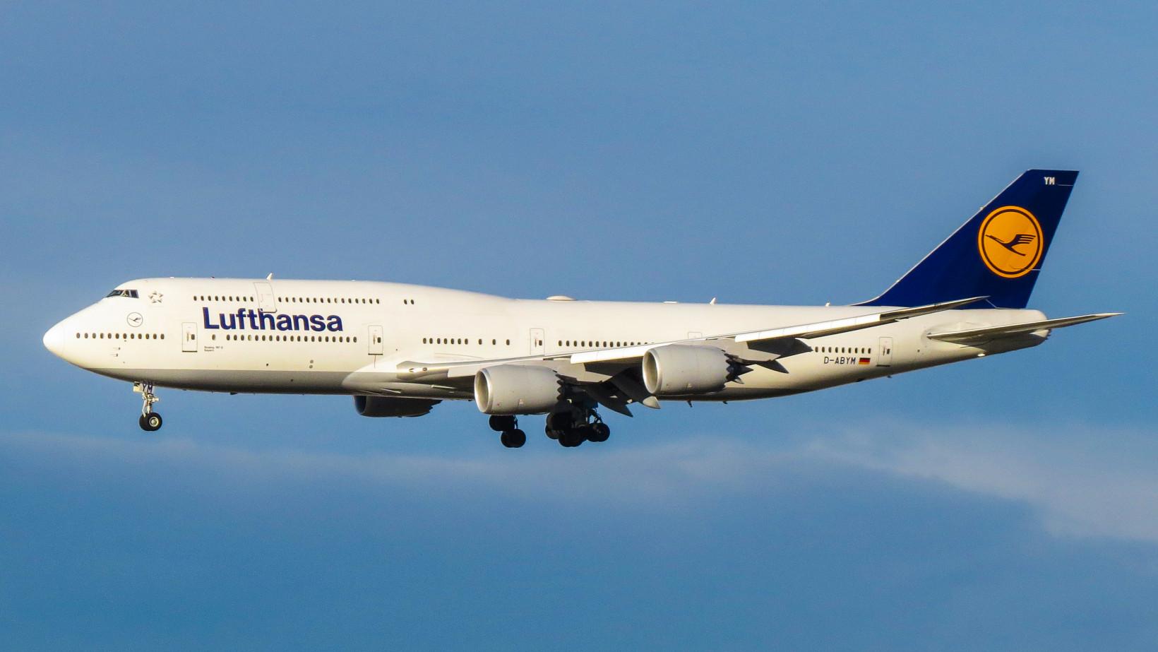 boeing, plane, 747, lufthansa