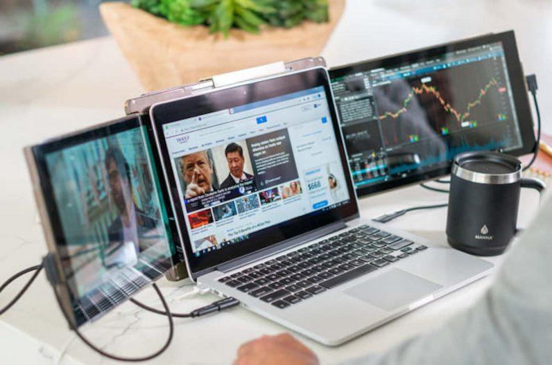 How about a triple screen laptop? The Mobile Pixels Trio makes it happen