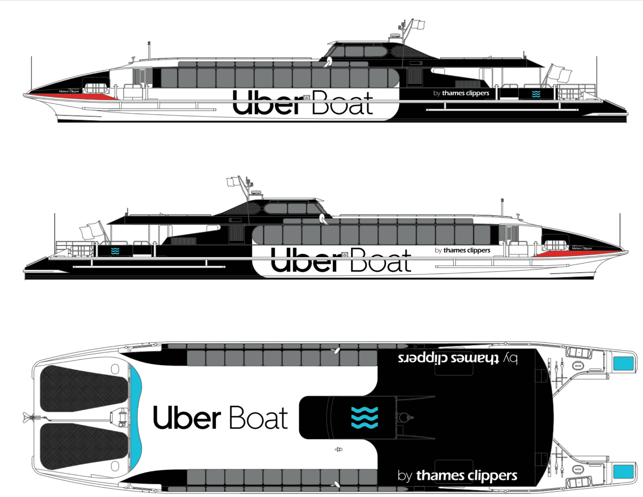 uber, boat, thames clippers, passenger, taxi