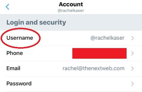 تغيير اسم المستخدم تويتر