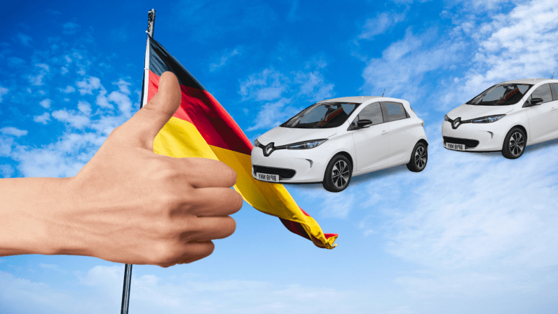 germany, renault, ev, zoe, car, cheap, subsidy, free