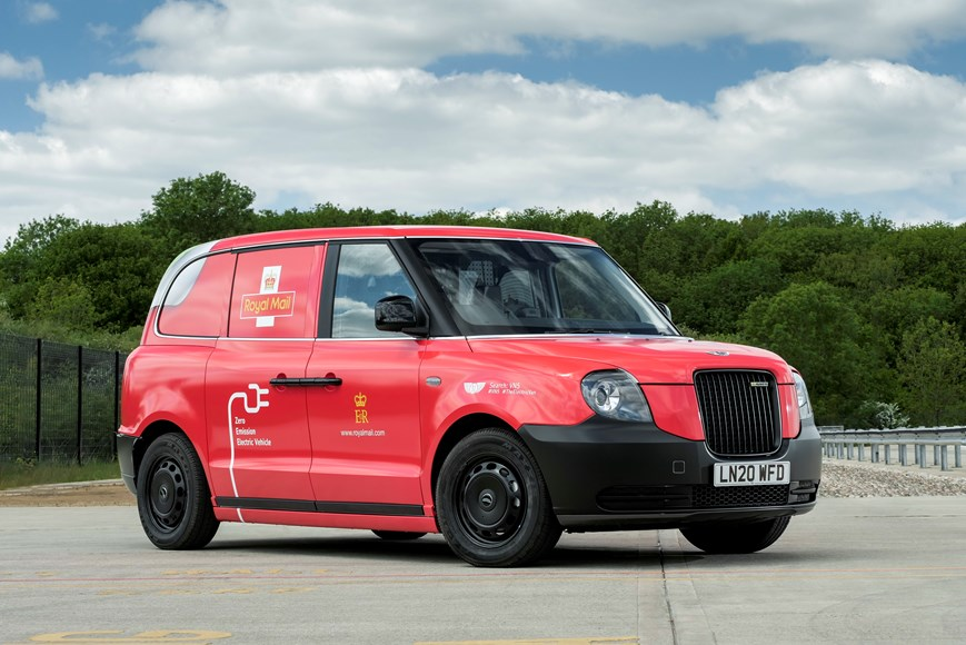 LEVC, car, van, delivery, royal mail