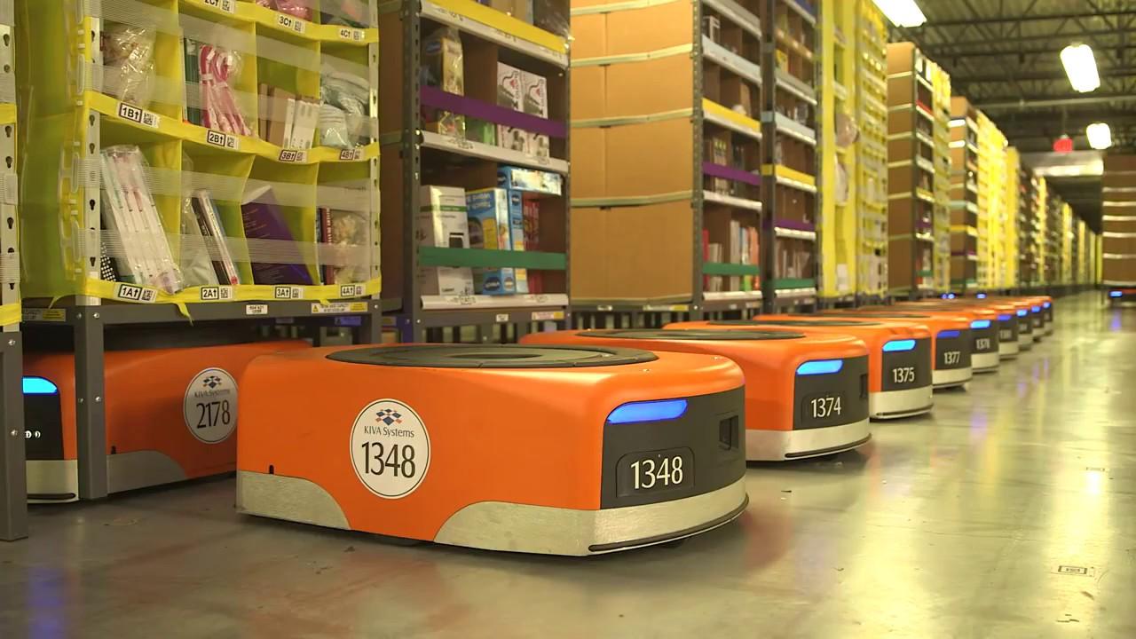 amazon, warehouse, robots