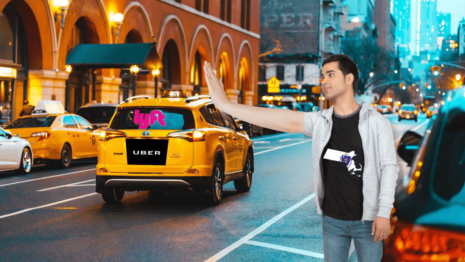 uber, lyft, massachusetts, car, ride, share, hail, future, vehicle, ev, workers, ab5