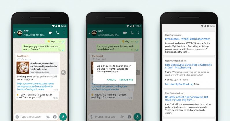 WhatsApp now lets you reverse search viral messages to check if they're bogus