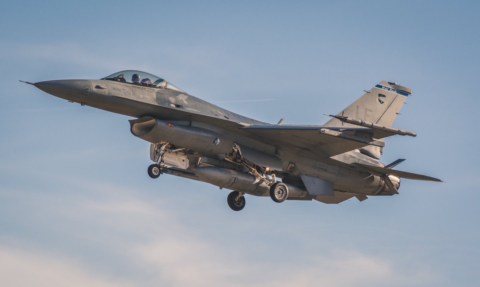 The F-16 was designed as an air-to-air fighter but current models are also effective for ground attacks.