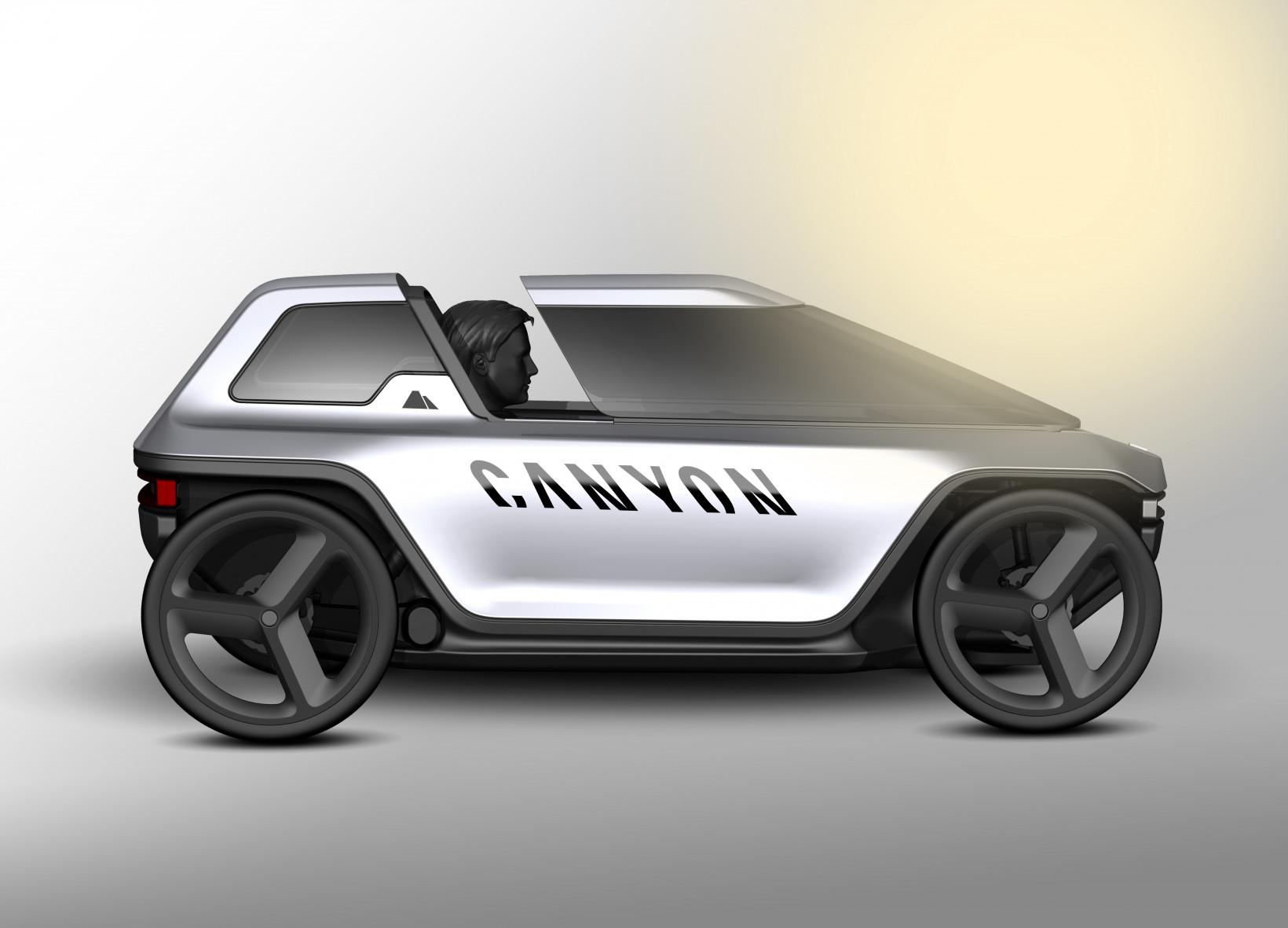 canyon, podbike, car, ev, future
