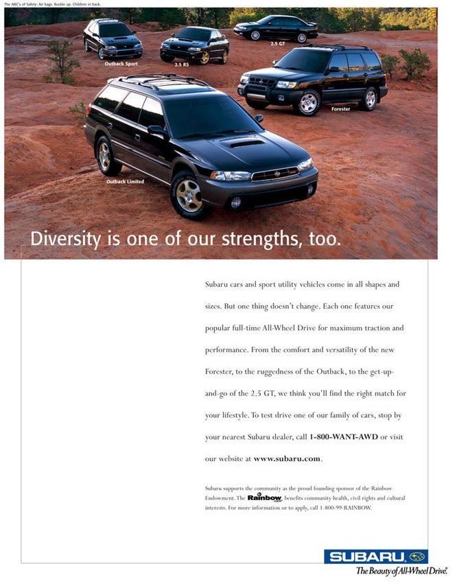 cars, subaru, lesbian, marketing