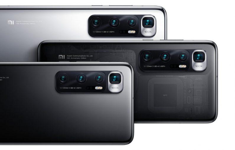 Xiaomi Mi 10 Ultra trio