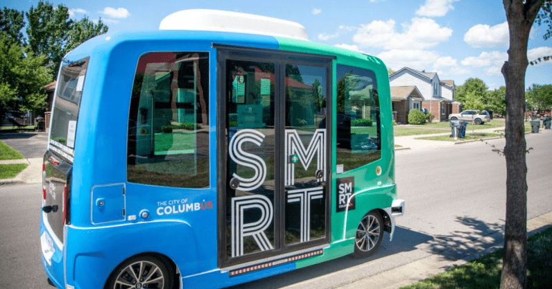 A closer look at Ohio's self-driving shuttle bus trial that's now a food delivery service
