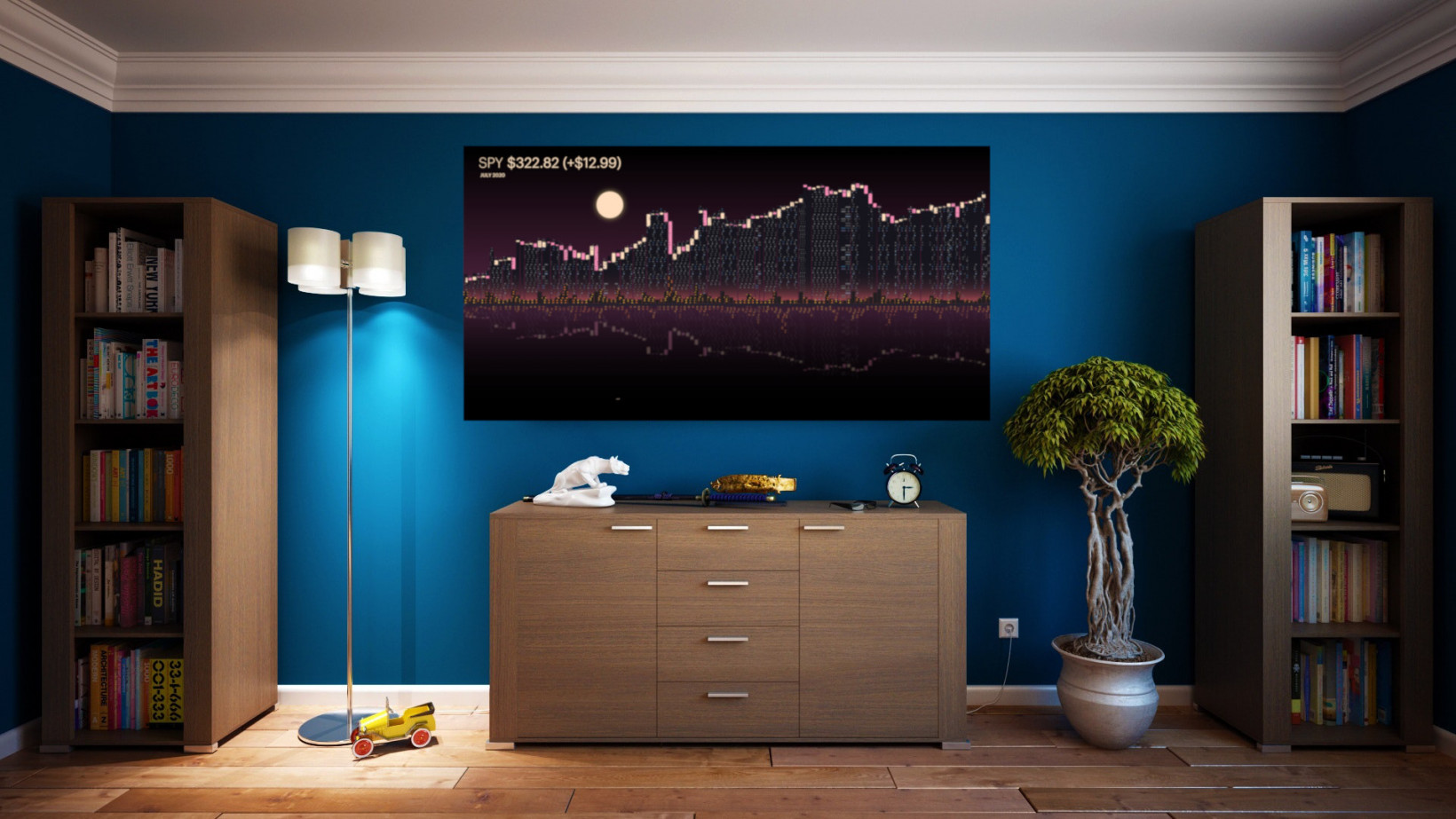 This artist turns boring stock market data into gorgeous minimalist art