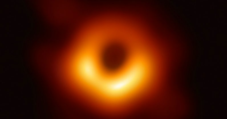 The first black hole ever photographed gets a glam up — it's now glittering