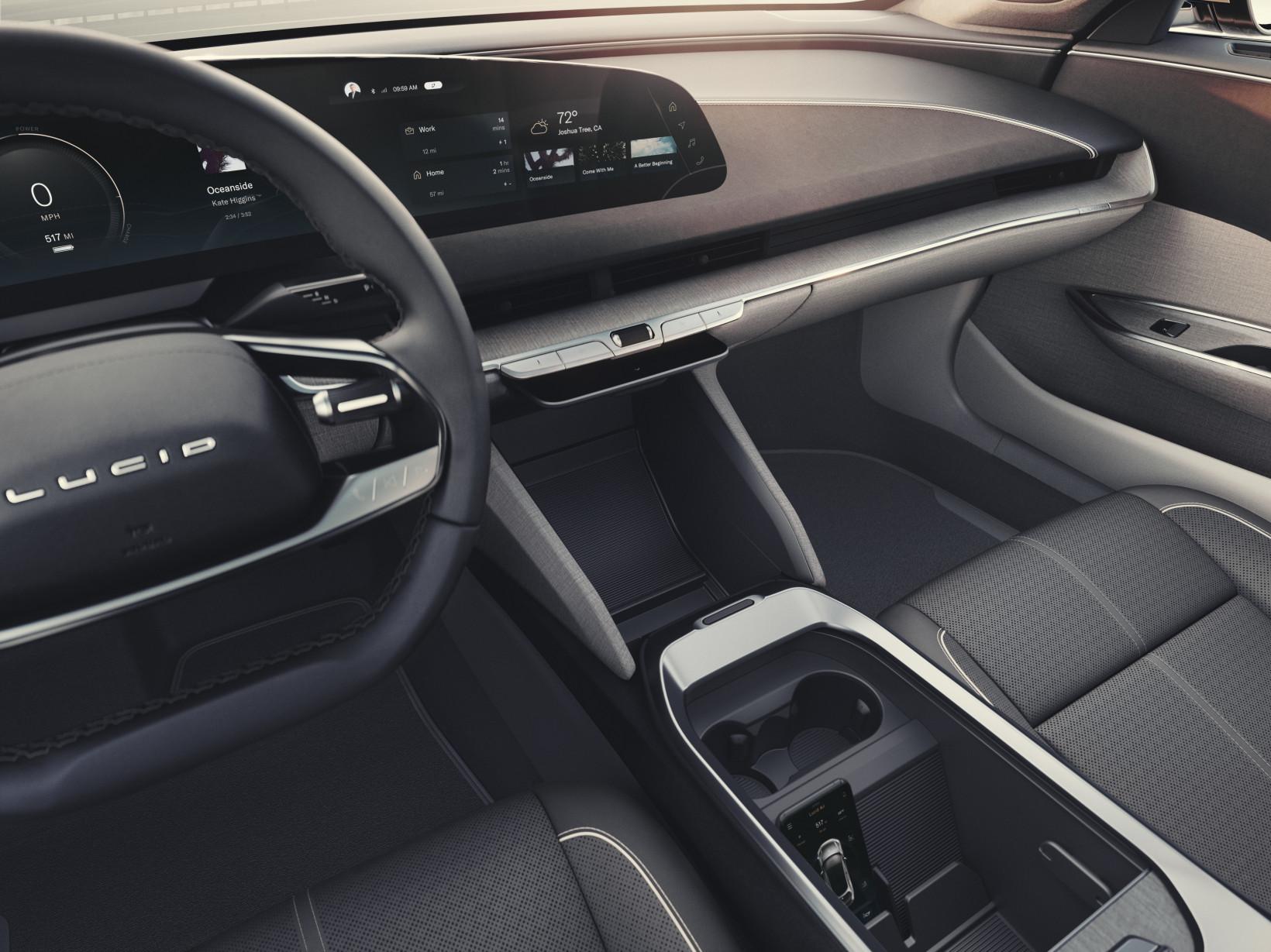 interior, ev, lucid, dashboard