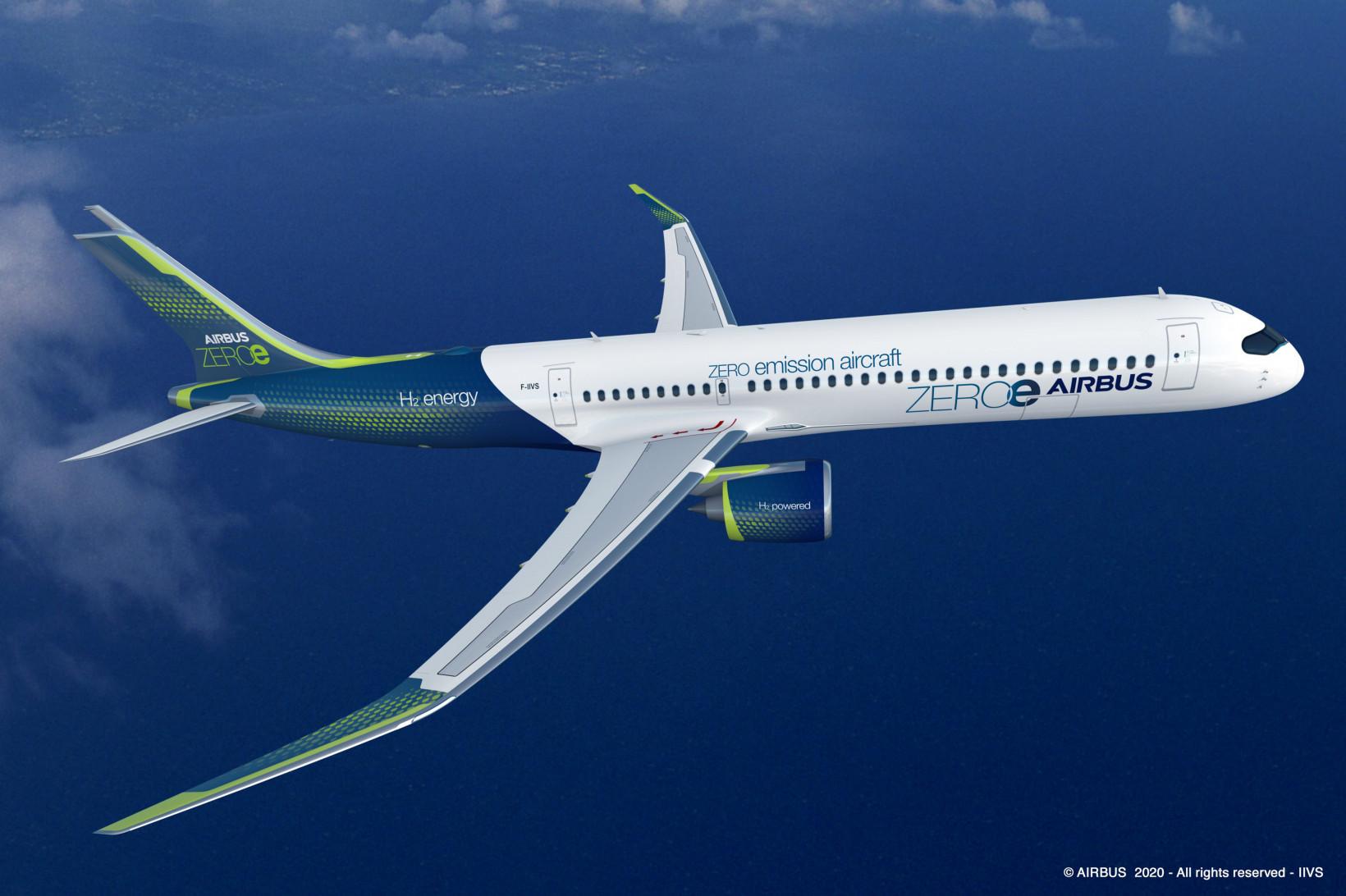 airbus, plane, future, fuel, hydrogen