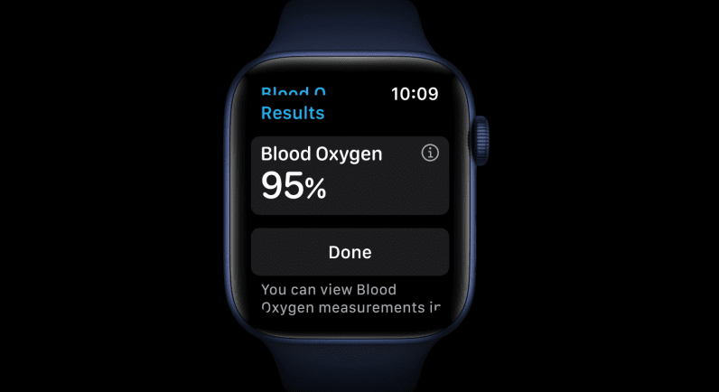 Apple Watch Series 6 blood oxygen