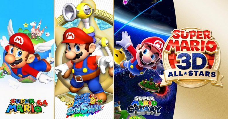Nintendo finally ports Super Mario 64, Sunshine, and Galaxy to Switch