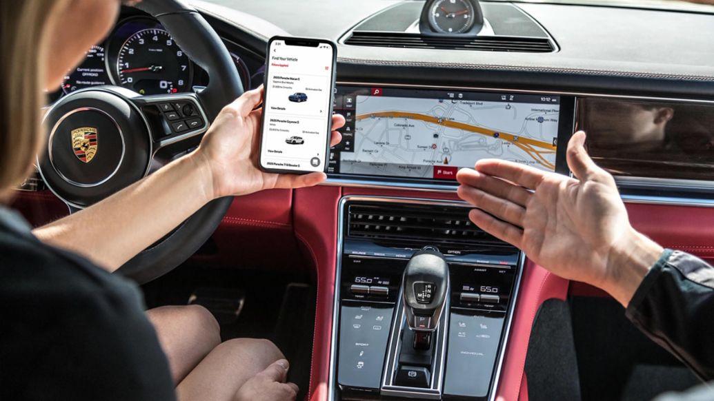 porsche, car, app, drive