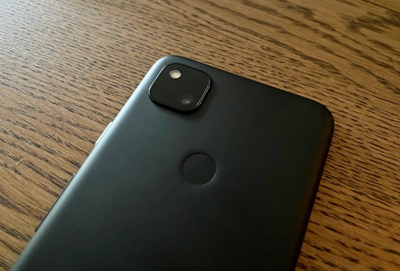 google pixel 4a rear camera and flash