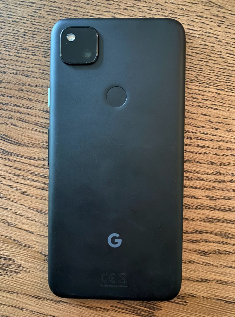 google pixel 4a rear fingerprint scanner