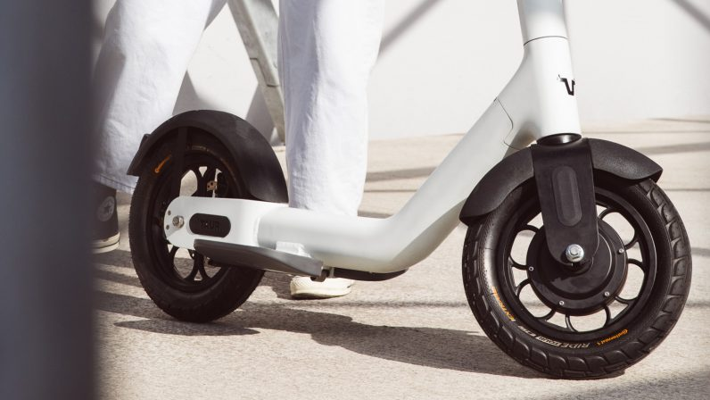 The Taur electric scooter prioritizes safety with giant tires and a forward riding position - the next web