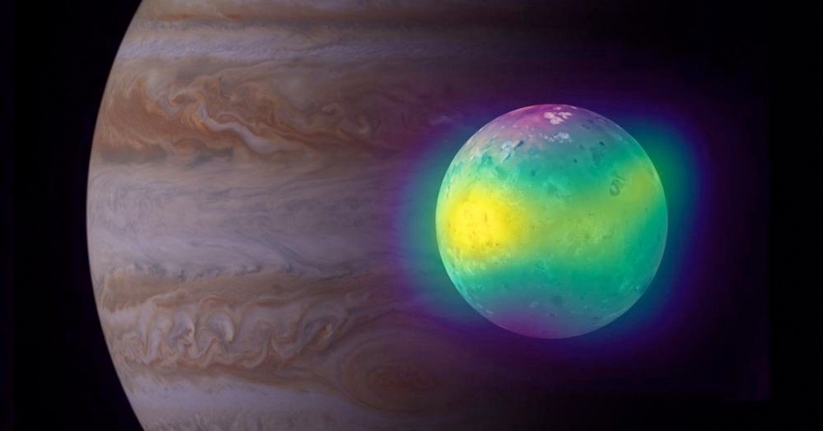 Volcanos on Jupiter's moon are painting its surface with beautiful colors