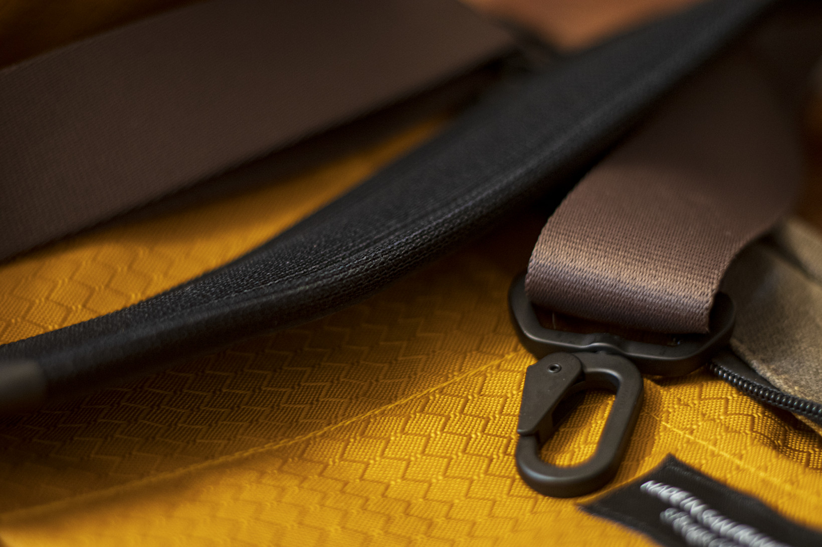 The Tech Folio features high quality hardware and materials throughout the bag