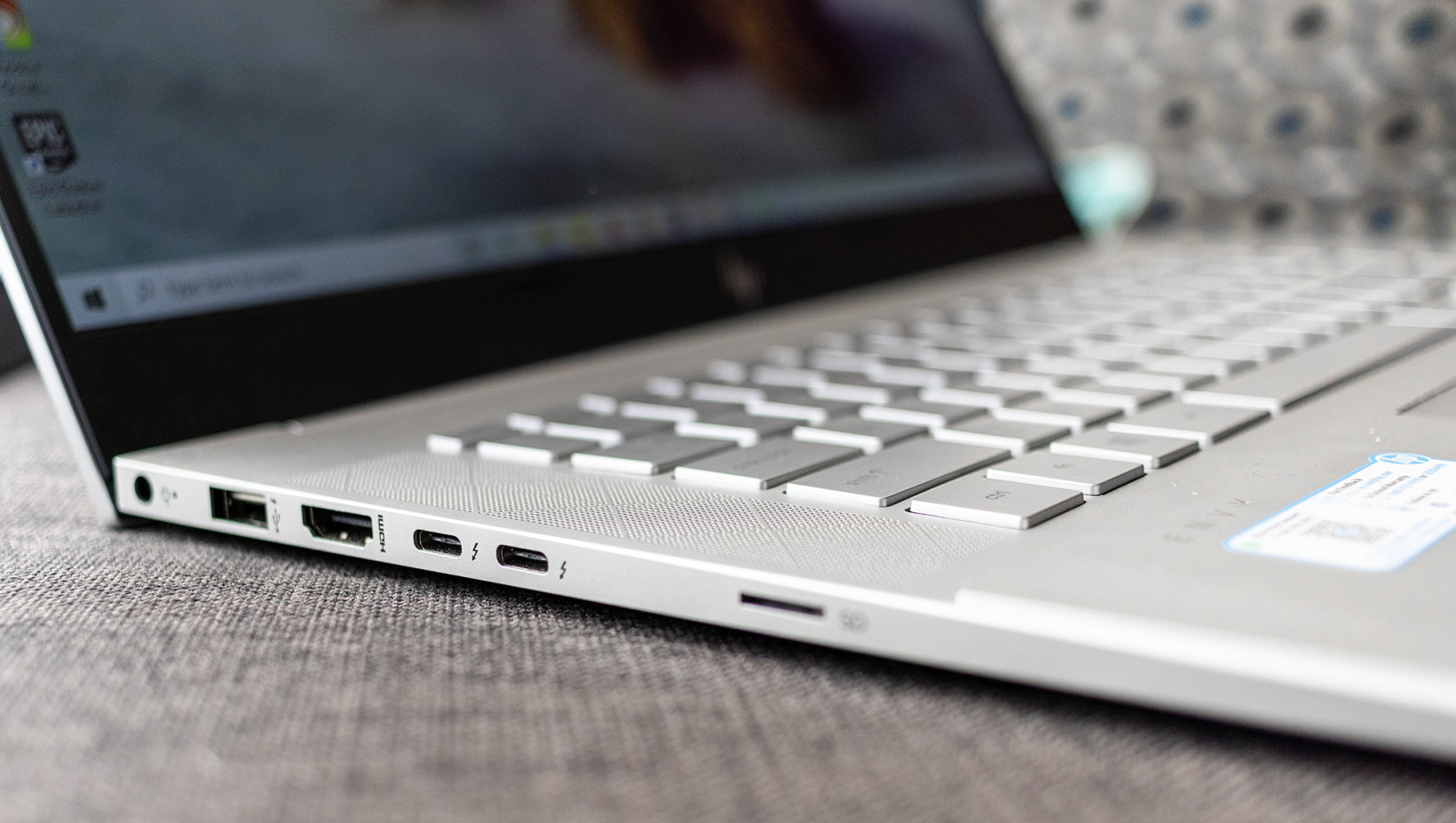 You get a nice selection of ports on the HP Envy 15, considering this is a slim-ish machine