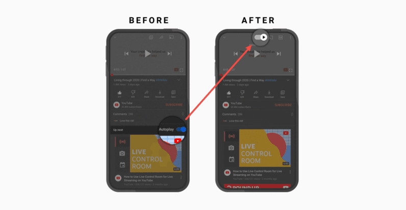 YouTube's mobile app gets several small tweaks to enhance the viewing experience