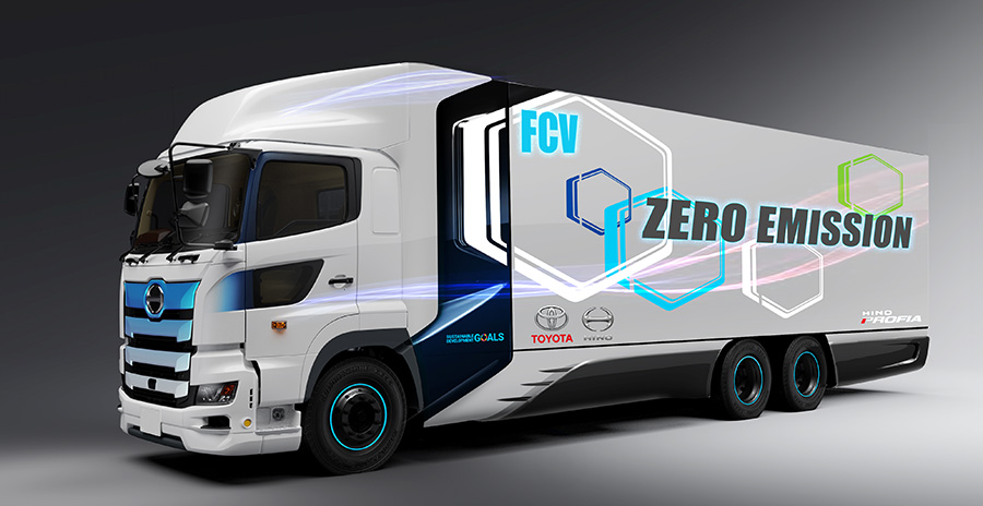 Totoya's heavy-duty fuel cell truck is slated to show up as a prototype next year