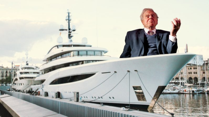 Oi, richy! If you're going to buy a yacht, at least make it solar-powered