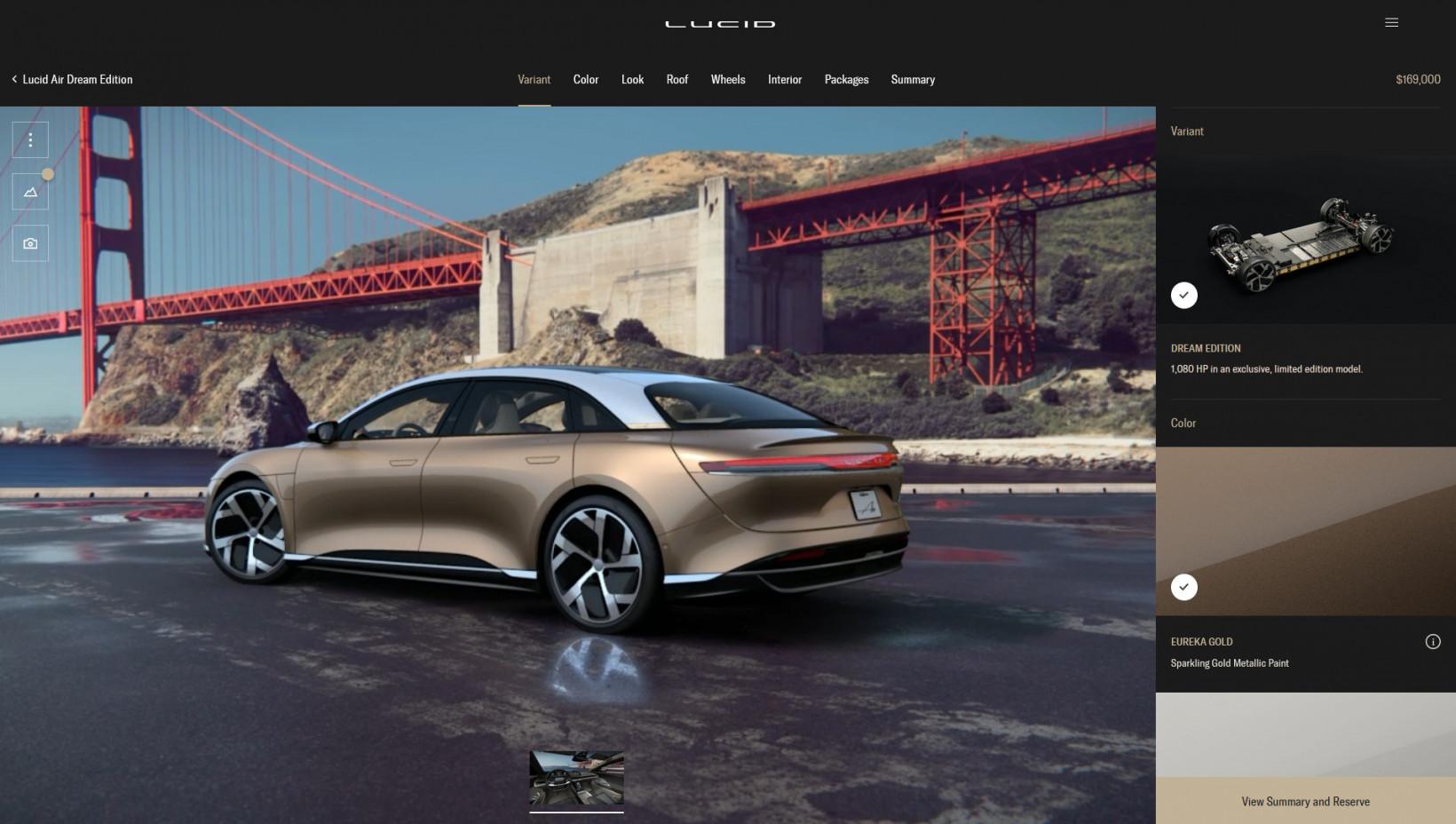 lucid, air, car, configurator