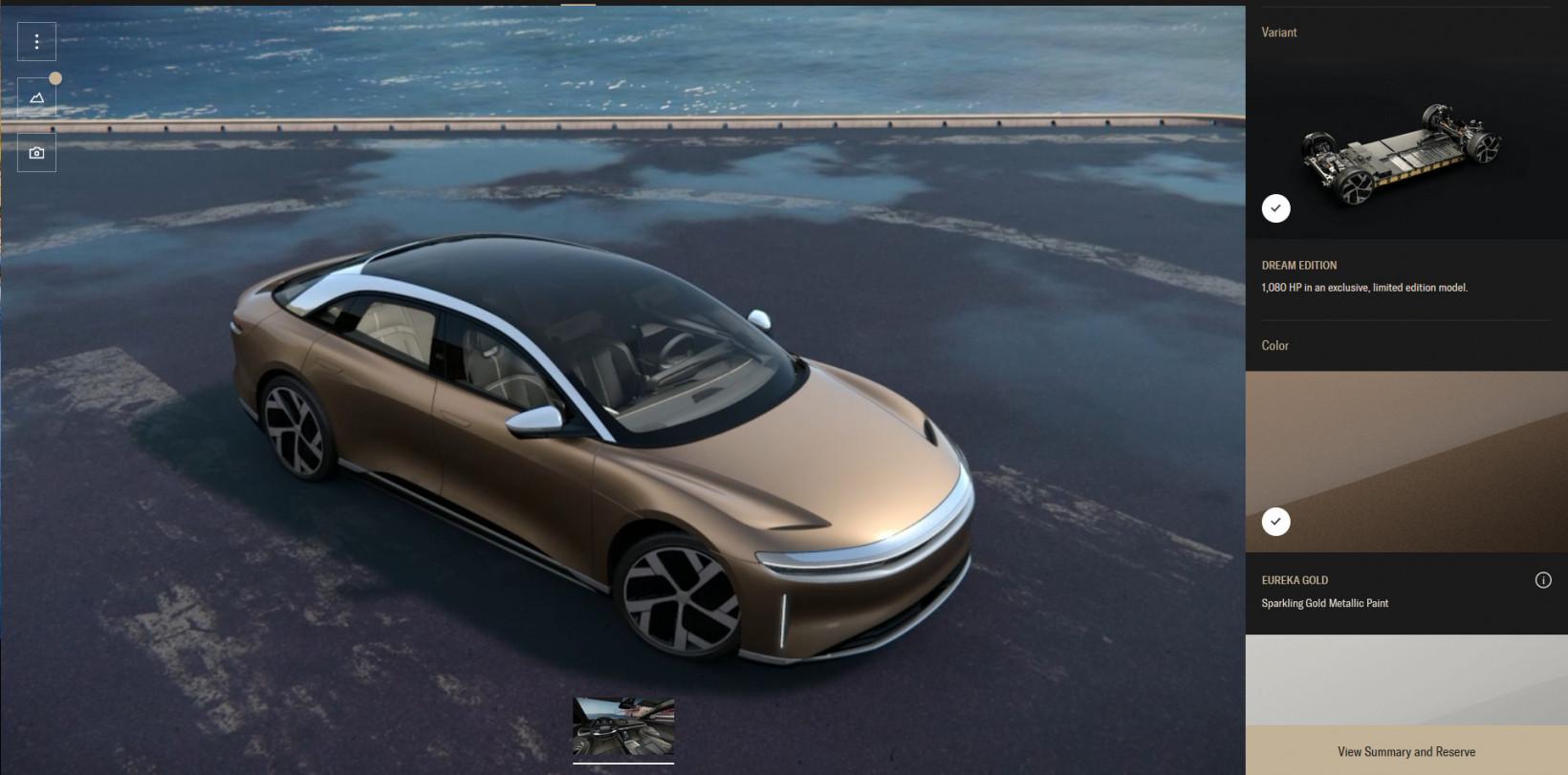 lucid, air, car, future, configurator
